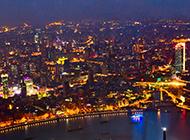 夜色俯拍上海摄影
