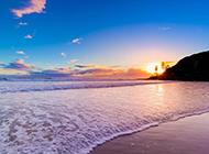 海边沙滩风景图片好看迷人
