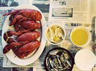 美味的海鲜大餐食物图片