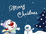 辛巴狗开心过圣诞唯美节日图片