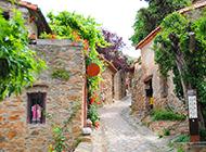 普罗旺斯小镇清新唯美意境风景图片