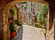 欧洲风迷人街道景色图片