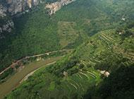 四川山川大峡谷风景图片秀丽青翠