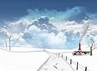 唯美雪景高清精美桌面风景壁纸