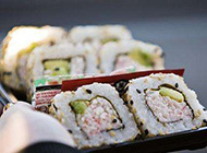 可口美味的日本寿司便当