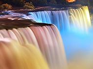 祖国的美丽彩色瀑布桥小溪山林景色赏析