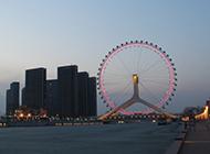 超美天津海河夜景高清图片欣赏
