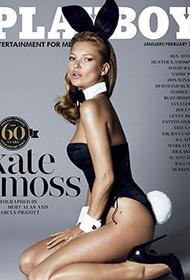 凯特·莫斯兔女郎造型登花花公子60周年封面