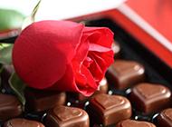 甜美巧克力爱心美食图片