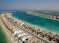 迪拜棕榈岛风景高清图片