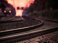 铁轨上的唯美意境风景图集