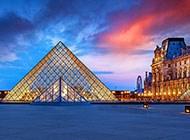 美丽的卢浮宫高清风景图片