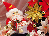 圣诞老人的可爱生活素材