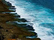 中国台湾海边岩石风景摄影图片