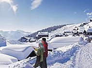 瑞士冬季雪景高清图集