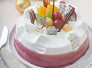 可口诱人的水果蛋糕图片