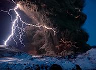 火山喷发奇景风光壁纸