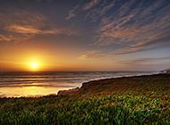 海边夕阳西下精美壁纸