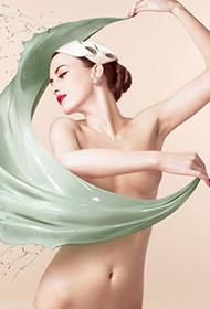 美女演绎人体光影彩绘艺术组图