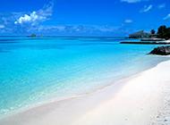 蓝天白云海岛唯美风景图片