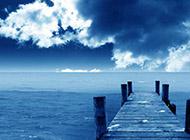 精选蓝色背景宽屏风景壁纸
