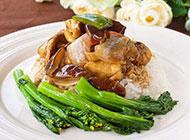 鲜菇滑鸡煲仔米饭图片
