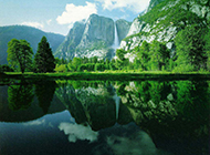 绿色山水风景壁纸高清护眼