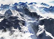 美丽的雪山雪景宽屏风景壁纸赏析
