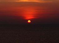 海边落日唯美图片意境浪漫