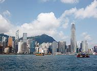 香港维多利亚港壮丽风景图片
