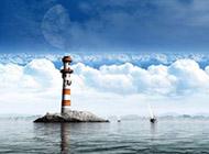 梦幻蓝天白云世界高清风景壁纸