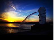 灿烂绚丽的夕阳图片
