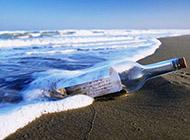 小清新沙滩海景高清电脑壁纸