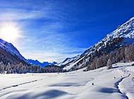 冬日冰天雪地自然风光图片