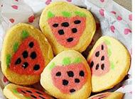 好吃的小清新草莓饼干高清图片