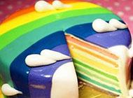 唯美清新彩虹系美食图片大全