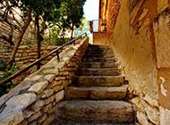 法国普罗旺斯石头城特色古建筑图片欣赏