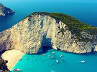 希腊扎金索斯美丽海岛风景图片