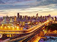 美国纽约曼哈顿夜景图片欣赏