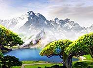 清新唯美的湖泊摄影桌面墙纸