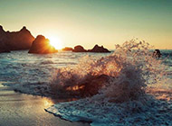 汹涌的大自然海浪风景壁纸