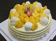 芒果水果蛋糕图片美味诱人