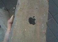 """超大苹果手机恶搞图片之""""挨拍的4"""""""