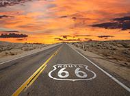 美国伊利诺伊州66号公路唯美风景