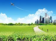 高清精美天空飞机风景图片