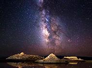 优美浪漫的夜空美景图片