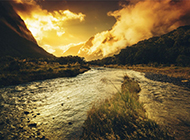 夕阳风景图片唯美高清壁纸
