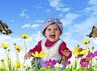 呆萌小宝宝可爱微笑美图