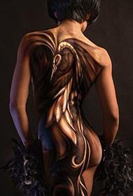 性感西方美女人体彩绘写真