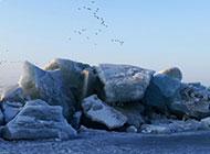 最美冰山雪景风光纯洁晶莹